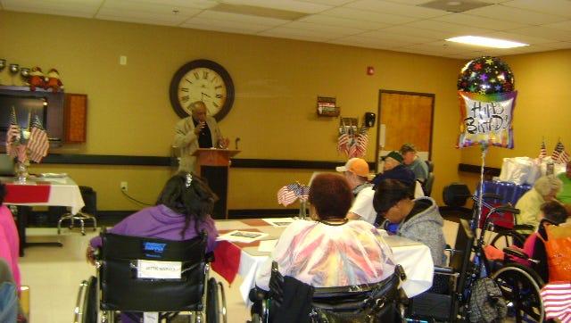 Forest Cove Nursing and Rehab Center celebrates veteran residents.