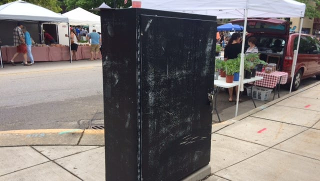 An example type of utility boxes the project will be transforming into public art.