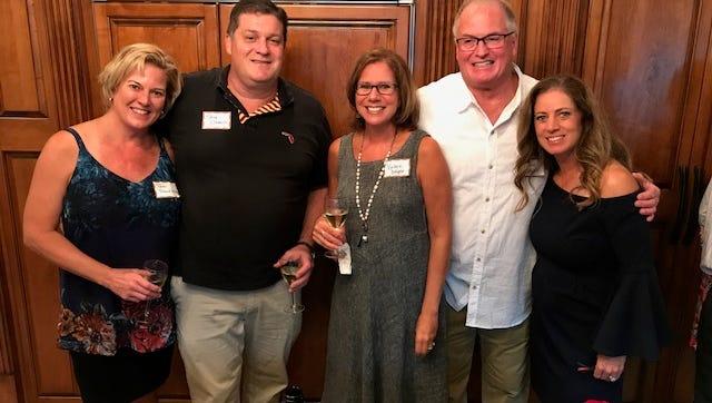 (left to right) Tami Frankland, CMSA Past President, Dr. Steve Cremins, Val Draper,CMSA Past President, Dr. David Draper, Ida Thompson, CMSA President