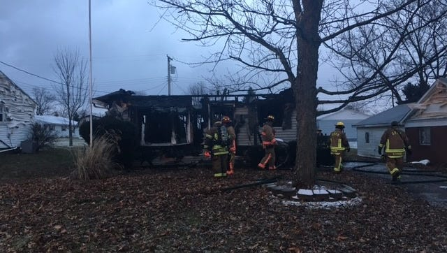 A fire broke out at at 6:12 a.m. Tuesday at 814 Randalwood Drive in Ontario. Firefighters said the house, which was unoccupied, is a total loss.