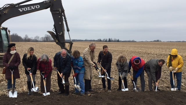 Village officials in Yellow Springs, Ohio break ground a new medical marijuana growing site