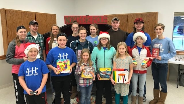 Brussels Shining Stars 4-H members after their Christmas With Santa community service event.
