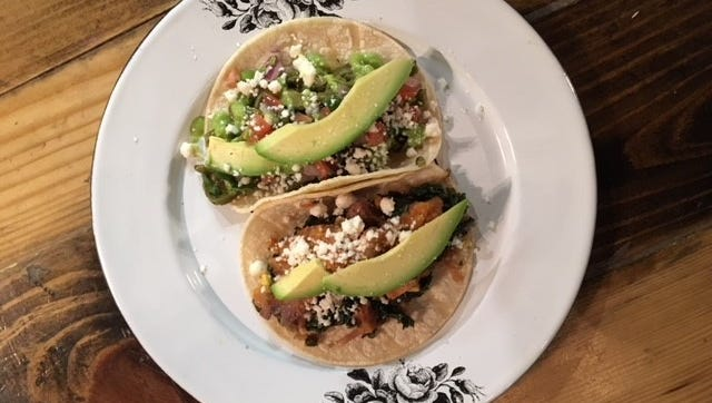 The Nopal, a vegetarian taco offered at Ki' Mexico in Shreveport.