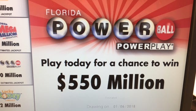 Powerball jackpot climbs.