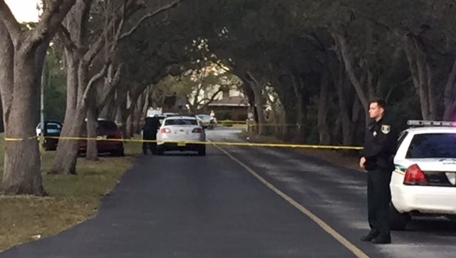 Crime scene tape and Lee County Sheriff's Office deputies had a portion of Broadhurst Loop closed off on Sunday afternoon.