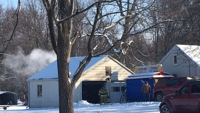 Madison Township firefighters Tuesday afternoon extinguished a garage fire at 976 Beal Road.