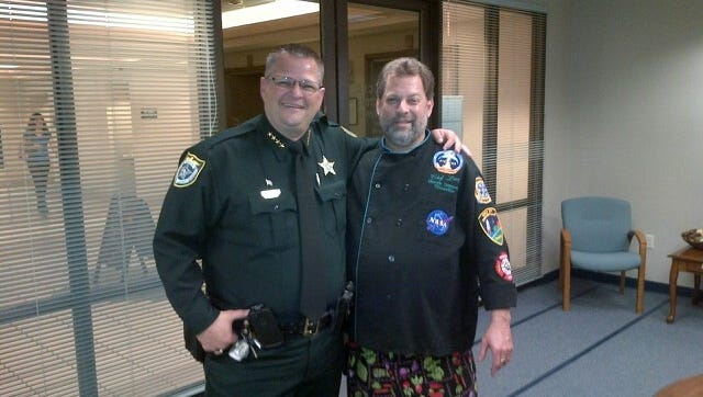 Brevard County Sheriff Wayne Ivey will spend time in the kitchen with chef Larry Berkowitz later this month.