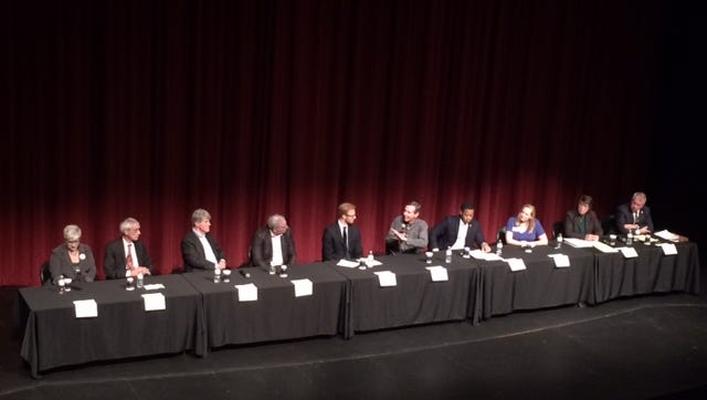 Ten Democratic candidates for governor attended a Wednesday night forum in Menasha.