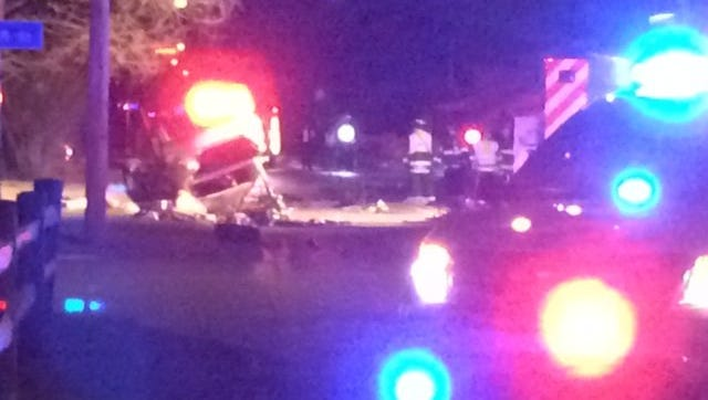Police investigate a fatal head-on crash in the the in the 7800 block of East 46th Street on Sunday.