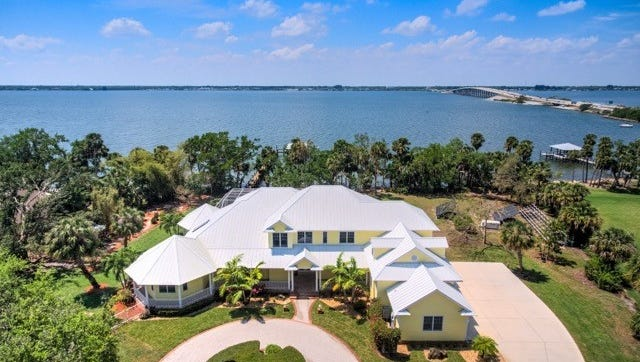 This 2.98-acre estate home at 8505 South Tropical Trail sold last September for $2,548,000.