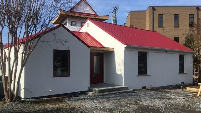 Padmasambhava Buddhist Center of Tennessee's new temple is under construction in Berry Hill.