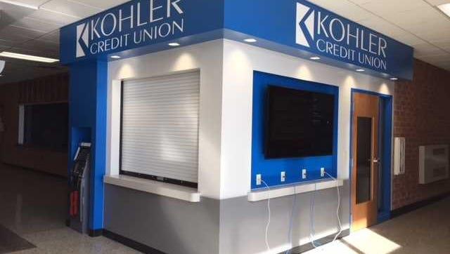 The branch of Kohler Credit Union inside Homestead High School.