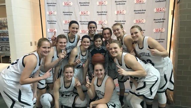 The Marysville High School girls basketball team won the MAC Tournament Saturday in Marysville.