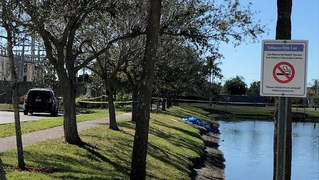 Cape Coral police were called to  Cape Coral Hospital Sunday in reference to a body found in a retention pond at the back of the hospital property.