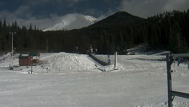This is a shot of the Mt. Shasta Ski Park on Wednesday.