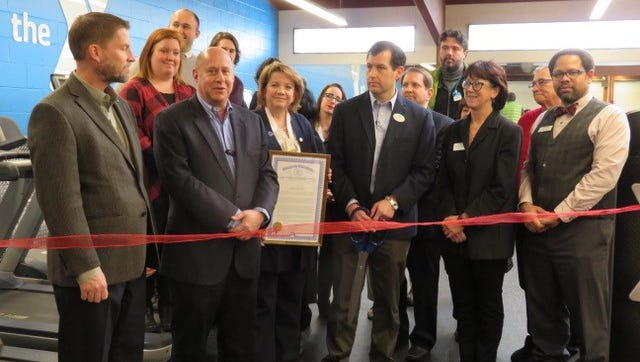 State Rep. Christine Greig, Farmington Hills Mayor Pro Tem Richard Lerner and other community leaders were on hand for a ribbon cutting at the renovated Farmington Family YMCA.