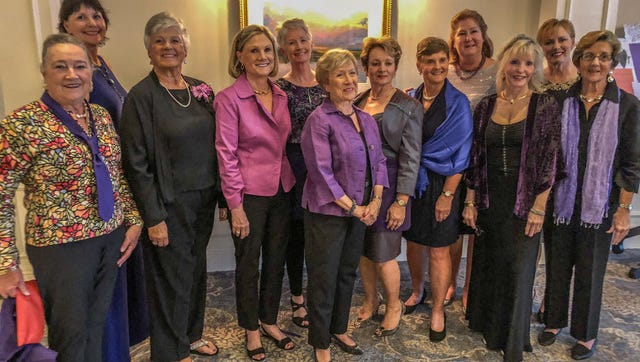 The Harbour Ridge event committee included, from left, Penny Rubincam, Roberta Kulas, Sharon Beauchamp, Diane Greenawalt, Ramona Holmes, Dot Coblentz, Angie Sparler, Kathy Kenny, Lisa O'Neill, Jet Jatlow, Bev Martin, and Lynn Greenho. Not pictured: Esther Ross and Susan Kellett.