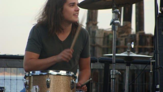 Nashville drummer Ben Eyestone performing at a gig prior to his death in 2017.