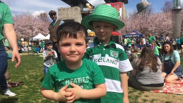 Cole Antifonario and Elijah Johnson play together at the Music City Irish Festival