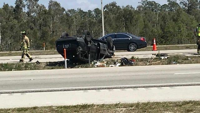 A single-vehicle crash shut down two lanes of NB I-75 Sunday.