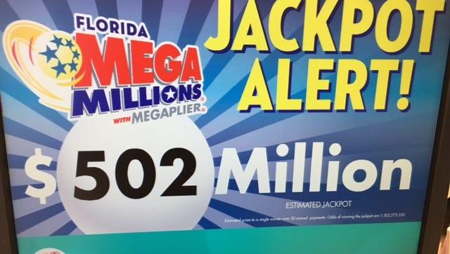 The Mega Millions jackpot is now worth half a billion dollars.