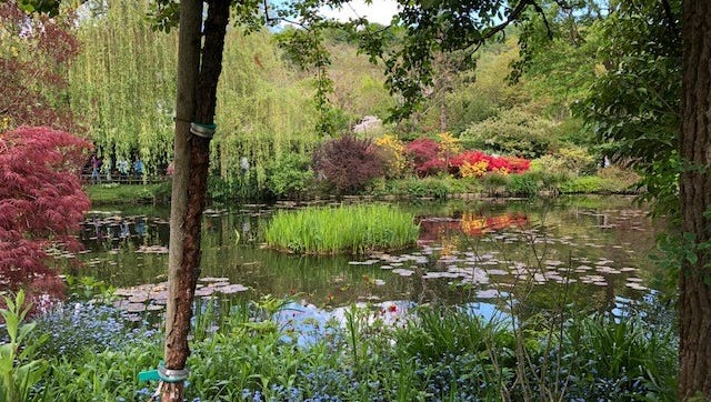 A view of one of the gardens at Claude Monet's house in Giverny.