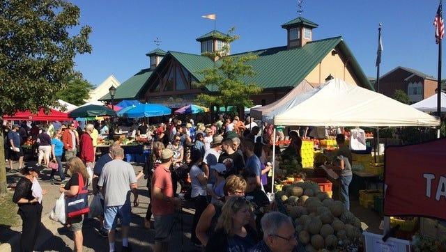 The Farmington Farmers Market draws thousands of people every Saturday.