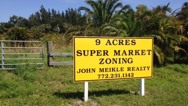 Commercial real estate developer  John Meikle is marketing 9 acres just outside the Orchid town limits, not far from where Publix has proposed a new supermarket. The land in unincorporated Indian River County, however, already is zoned for a supermarket.