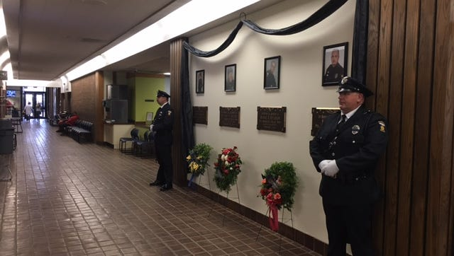 Mansfield police honor those officers who were killed in the line of duty at the Mansfield City Building Monday. This week is National Police Week.