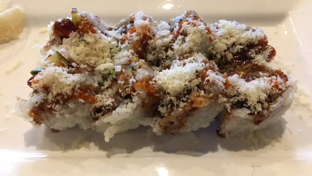 The KCC specialty roll at Ichimi Sushi & Grill in Battle Creek.