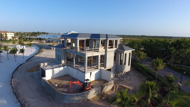 Gulfshore's Casa Mare is on schedule for completion at Miromar Lakes Beach & Golf Club.