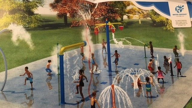This photo gives an idea of what Cheviot's Bicentennial Splash Park will look like. The park will be unveiled June 4.