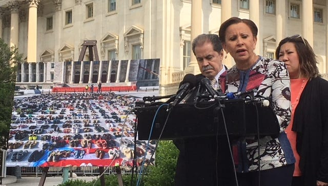 Rep. Nydia Velazquez, D-N.Y., and other members of the Congressional Hispanic Caucus, called for an independent commission to look into the number of deaths in Puerto Rico after Hurricane Maria.