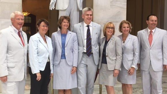 Republican and Democratic senators put aside partisanship