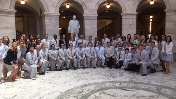 Congressional staffers joined in the celebrate National