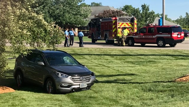 East Jolly Road was closed in both directions just west of US-127 for a serious crash involving an SUV and a motorcycle on Wednesday, June 13, 2018.