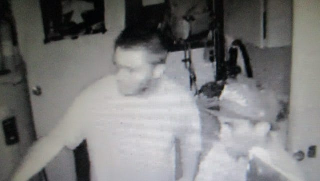 Still from video shot in late June, 2018 of burglars in a home on the 900 block of Melrose.
