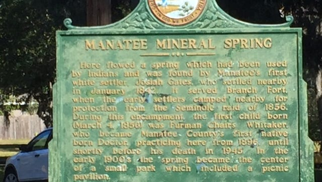 The community known as Angola when it was an impressive settlement of up to 750 maroons—a term for escaped slaves—from 1812 to 1821 is recognized with a plaque at Manatee Mineral Spring Park, a Bradenton city park.