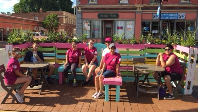 The students are encouraging people to follow @pinatheparklet on Instagram
