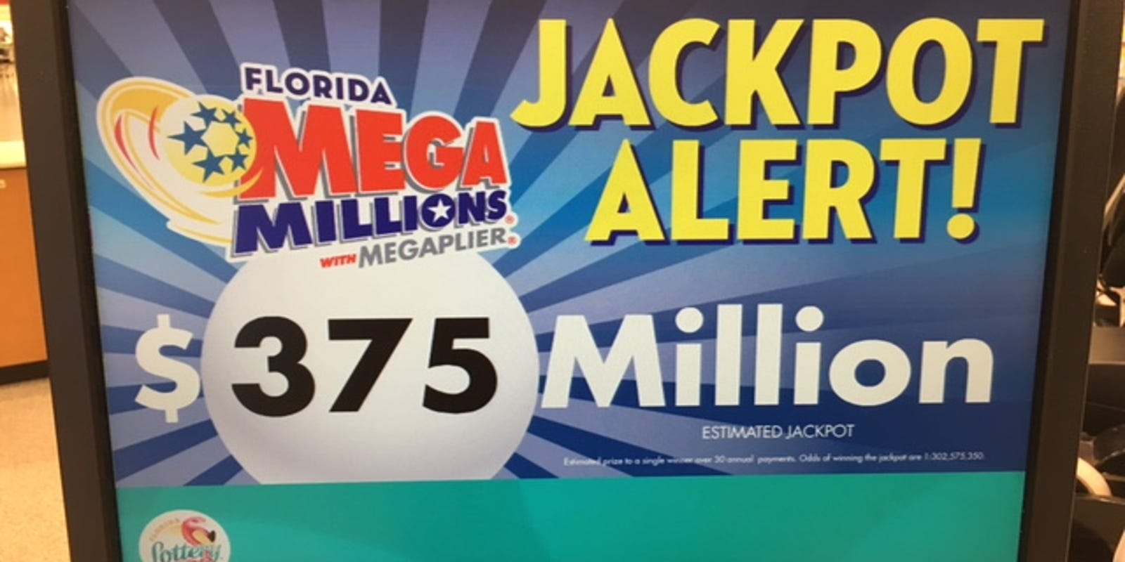 Numbers drawn for Mega Millions $375M game