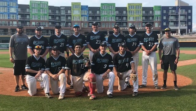 The East Coast Michigan 18-and-under travel baseball team won three of the six summer tournaments it  participated in.