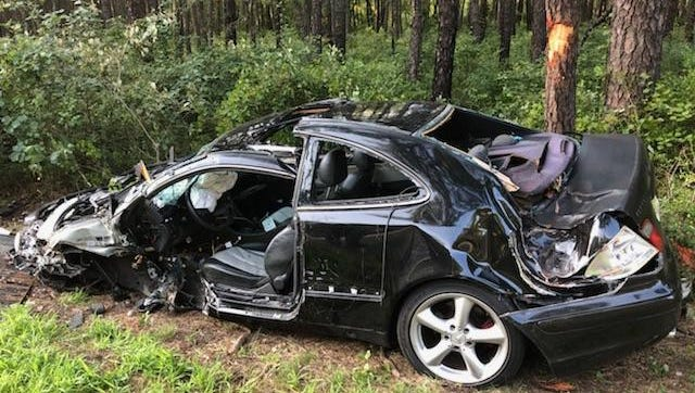 Three people were hospitalized after a head-on collision on Route 70.