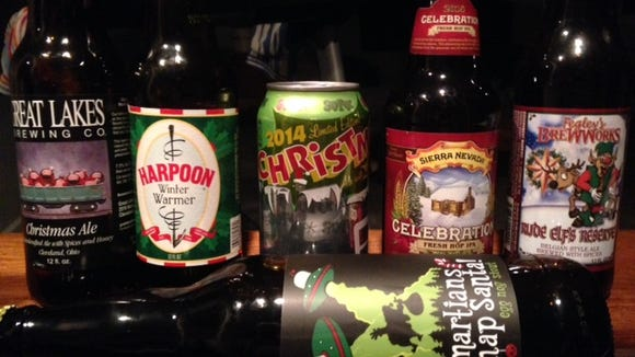 The first 6 beers of the 25 beers of Christmas.