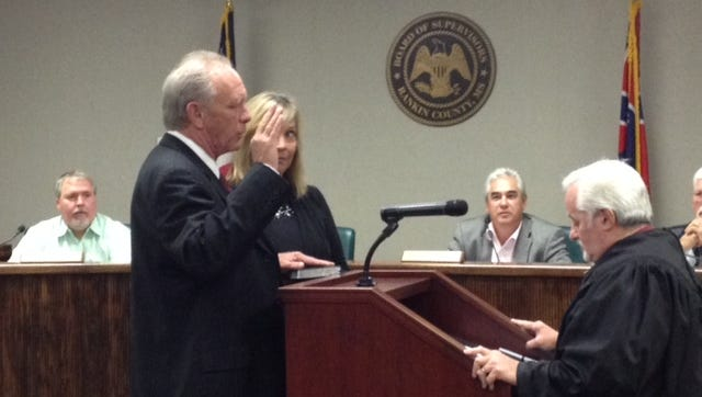 Rodney Keith is sworn in as Rankin County District 2 Supervisor.