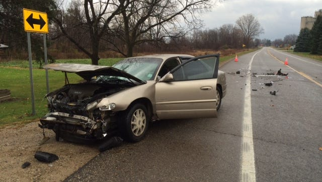 Two pregnant drivers were injured in a crash on M-50