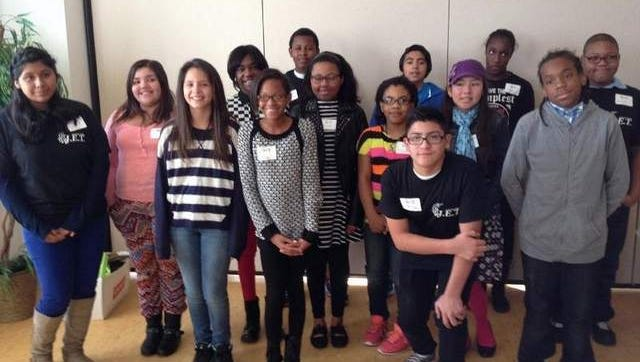 Asbury Park students at the Springwood Center Saturday, Nov. 15 after a luncheon and launching of the junior Entrepreneur Training program.