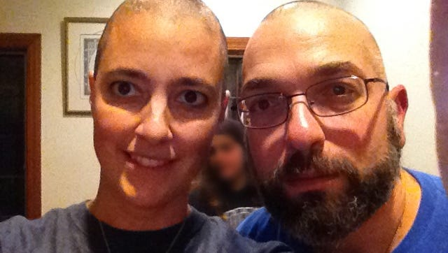 Drs. Amy Reed and Hooman Noorchashm after the start of Reed's chemotherapy treatment.    Reed, a Boston doctor who had what she thought was a routine hysterectomy that actually ended up spreading cancer she didn't know she had, and making it much worse.