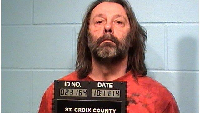 This undated image provided by the St. Croix, Wis., County Corrections Bureau shows Kelly Kloss. Kelly and his wife Cheryl Kloss. are accused of conspiring to kill a River Falls police officer and threatening to harm a St. Croix County judge. (AP Photo/St. Croix, Wis., County Corrections Bureau)