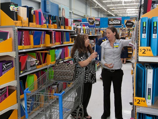 Back to School shopping at Walmart in Neptune.-August 26, 2015-Neptune, NJ.-Staff photographer/Bob Bielk/Asbury Park Press