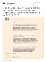 A tweet on Tuesday, July 10, 2018, from the South Carolina